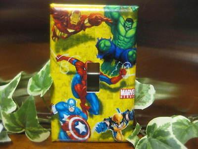Light Switch Gfi Double Plate (Marvel Spiderman Hulk Light Switch Wall Plate Cover #1 - Outlet Double GFI )