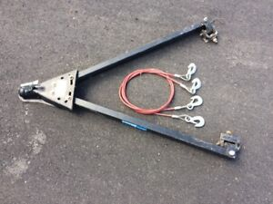 Auto tow bar with safety cables