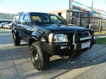 2006 Nissan Navara D22 ST-R (4x4) Black 5 Speed Manual Dual Cab Pick-up Williamstown North Hobsons Bay Area Preview