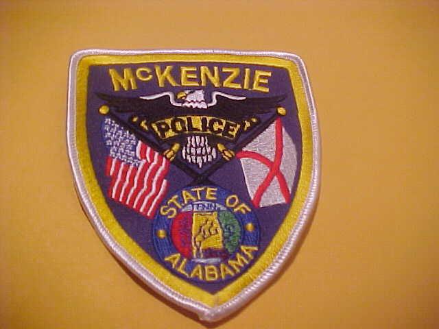MCKINZIE ALABAMA  POLICE PATCH SHOULDER SIZE NEW