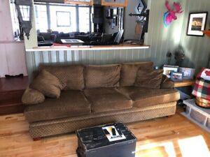 Lazy Boy Couch - Tan and with Black - Mint Condition