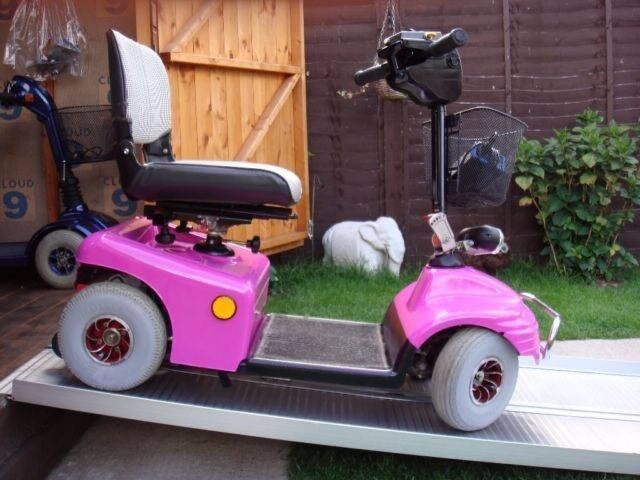 Rare Pink Heavy Duty Shoprider Deluxe Mobility Scooter Any Terrain Was £2200 Now Only £395
