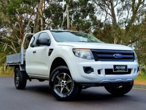 2011 Ford Ranger PX XL Super Cab 4x2 Hi-Rider White 6 Speed Sports Automatic Cab Chassis Littlehampton Mount Barker Area Preview