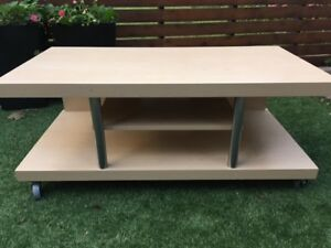 TV stand or entertainment unit on wheels