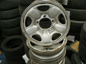 15'' SUZUKI 4X4 OR TRAKER 4X4 STEEL RALLY WHEELS X4 West Island Greater Montréal image 1