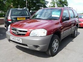MAZDA TRIBUTE 2.0 GSI 4WD 5d 122 BHP (red) 2003