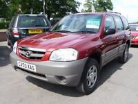 MAZDA TRIBUTE 2.0 GSI 4WD 5d 122 BHP NOW REDUCED BY £500! (red) 2003