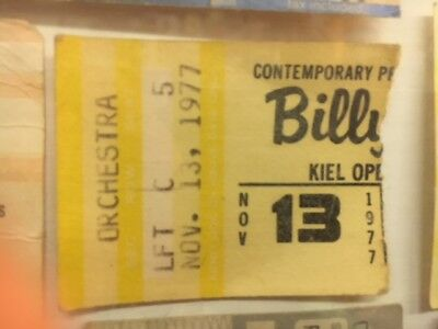 Billy Joel 1978 Kiel Opera House St.Louis MO Concert 3rd Row Ticket Stub Vintage