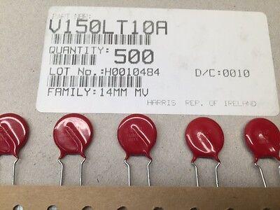 50 Pcs V150lt10a Harris 150vac 800pf Varistor Mov