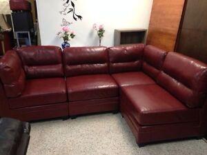 Spécial Salon modulaire rouge bourgogne à seulement 629 $