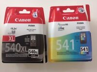 Brand new Canon PIXMA 540xl and 541 Color ink cartridges