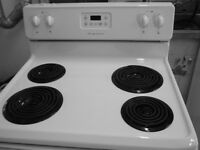 WHITE, 30 INCH WIDE STOVE, LIKE NEW!!!!