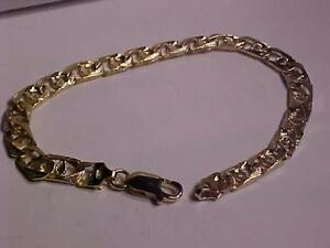"#3139-10K YELLOW GOLD REV. BRACELET-8 "" LONG-LOBSTER CLAW CLOSURE-9.99gms-FREE SHIPPING CANADA ONLY-EBANK TRANSFER"
