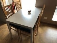 White Ikea Kitchen Table