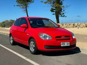 2007 Hyundai Accent MC Red 5 Speed Manual Hatchback Christies Beach Morphett Vale Area Preview
