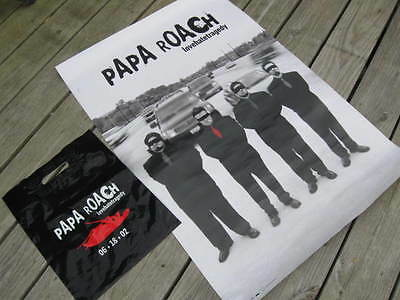 "PAPA ROACH 2002 ""Lovehatetragedy"" US PROMOTIONAL POSTER & SHOPPING BAG NEW"