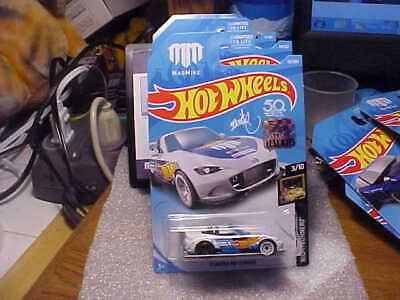Hot Wheels Stickers (Hot Wheels Nightburnerz '15 Mazda MX-5 Miata White 2018 Factory Seal)