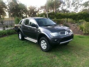 2011 Mitsubishi Triton MN MY11 GL-R Double Cab 4x2 Grey 4 Speed Automatic Utility Capalaba Brisbane South East Preview
