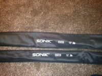 Sonik S3 Carp Fishing Rods - 12 ft 3lb Test curve - Never used.
