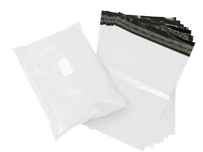 100 STRONG POLY MAILING POSTAL BAGS POSTAGE QUALITY WHITE HEAVY DUTY 10
