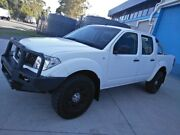 2008 Nissan Navara D40 RX White 6 Speed Manual Utility Ashmore Gold Coast City Preview