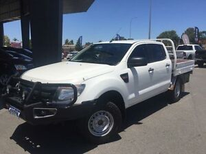 2013 Ford Ranger PX XL 3.2 (4x4) White 6 Speed Manual Dual Cab Chassis Beckenham Gosnells Area Preview