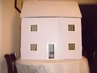 Hand made Dolls House with furniture, house is made of plywood