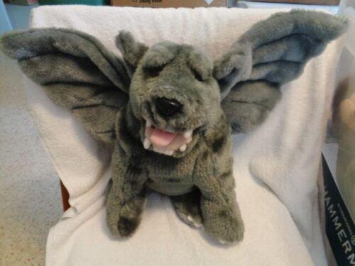 Gargoyle Design Toscano Gray Stuffed Plush Golden Bridge Gothic Winged Dog RARE