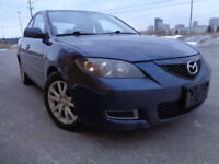 2008 MAZDA 3 AUTOMATIC CLEAN AND LOADED LOW KM ONLY 149000