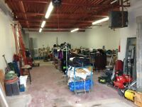 mega shop/garage liquidation from hilti to scaffolding