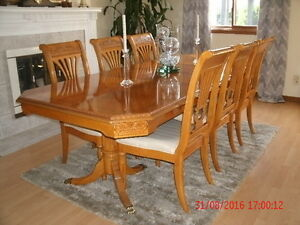 Stunning Quality Dining 6 chairs 2 leaves-$1600 BUY THIS WEEKEND