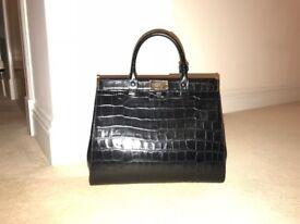 Aspinal Large Dockery Tote Bag, black Croc.. BEAUTIFUL this season