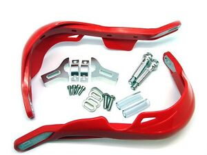RED MOTOCROSS HAND GUARDS HONDA CR CRF XR DIRT BIKE 125 150 200 250 450 600 650
