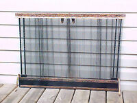 """Beautiful Hammered Copper Fireplace Hearth Screen 38"""" W x 29"""" H"""