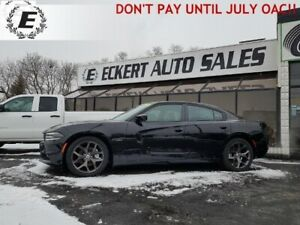 2017 DODGE CHARGER RT WITH 5.7L HEMI   DON'T PAY UNTIL JULY OAC!