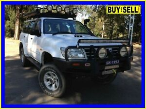 2003 Nissan Patrol GU III ST-L (4x4) White 5 Speed Manual Wagon Lansvale Liverpool Area Preview