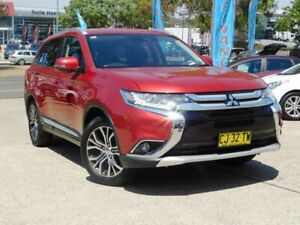2016 Mitsubishi Outlander ZK MY17 LS Safety Pack (4x4) 7 Seats Red Continuous Variable Wagon