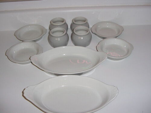 "SS UNITED STATES LINES  (10) Piece Set of ""Hall"" China  /  Top Condition"