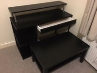 Desk and Coffee table for sale. Ikea