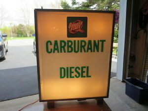 ENSEIGNE ( SIGN ) COMMERCIALE DIESEL QUAKER STATE