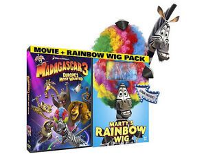 Madagascar 3: Europe's Most Wanted DVD Bonus Marty's Rainbow Wig