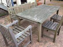 QUALITY ROYAL TEAK OUTDOOR TABLE / CHAIRS / BENCH Lane Cove Lane Cove Area Preview