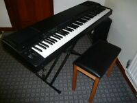Yamaha P300 electric piano as used by professional musicians.