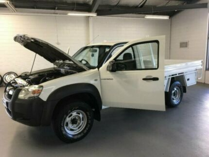 2008 Mazda BT-50 UNY0E3 DX White 5 Speed Manual Cab Chassis