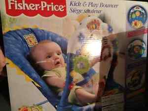 Baby kick and play bouncer