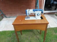 Sewing machine & working table