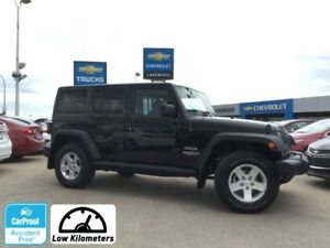 2014 Jeep Wrangler Unlimited Sport V6 Manual (Low Km, USB/Aux)