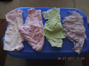 Girl's size 3-6months Rompers & Dresses