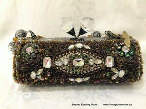 Brand new Vintage style hand beaded evening purses clutch onSale