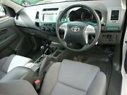 2013 Toyota Hilux KUN26R MY14 SR White 5 Speed Automatic Cab Chassis Avoca Bundaberg City Preview